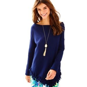 Lilly Pulitzer Navy Ferrera Sweater